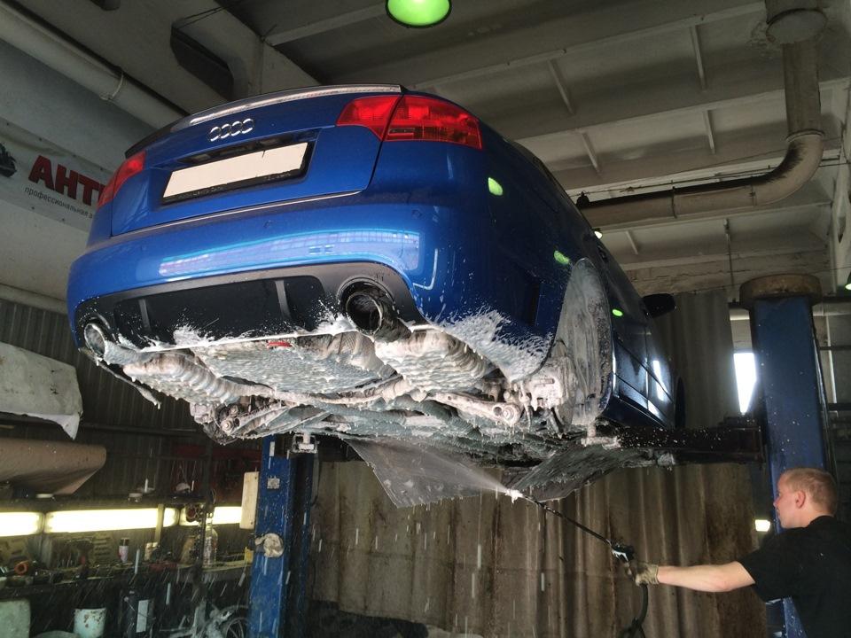 Как моют днище на автомойке