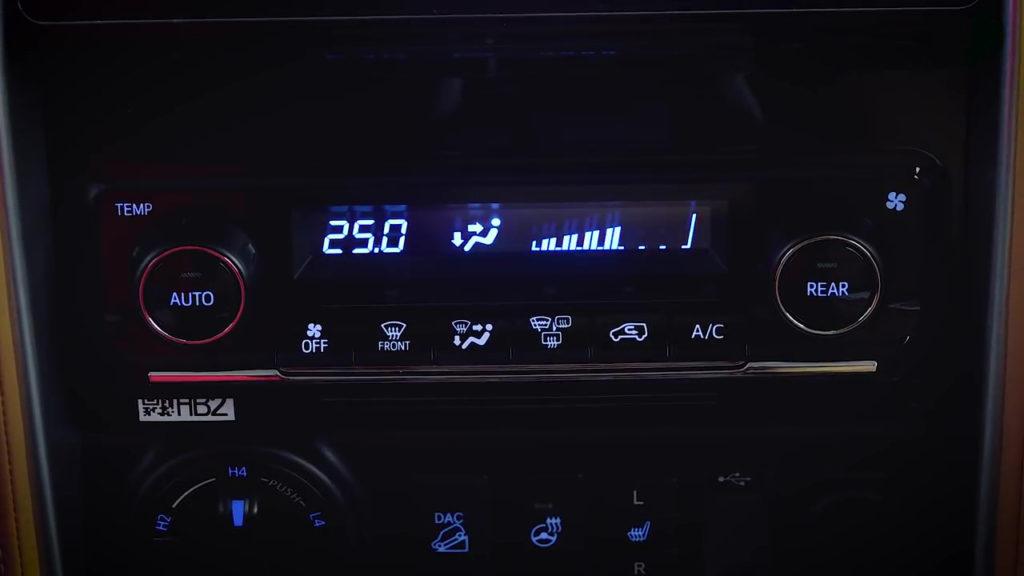 Климат-контроль Toyota Fortuner 2018
